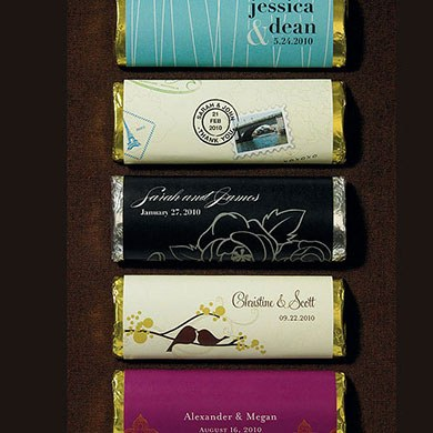 Nut Free Gourmet Milk Chocolate Bar with Personalized Wrapper