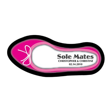 Sole Mates Woman Shoe Wedding Favor Sticker