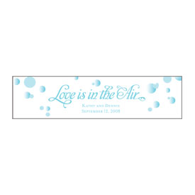 love is in the air wedding bubble favor sticker