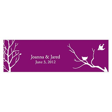 Bird with Nest Silhouette Wedding Favor and Place Card