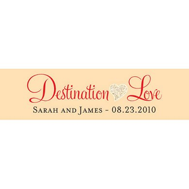 Destination Love Sand Wedding Accessory tag