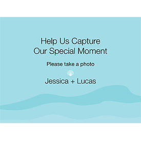 Beach Camera Table Sign Card