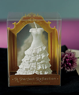 A Perfect Reflection  Wedding Dress Mini Wedding Favor Candle