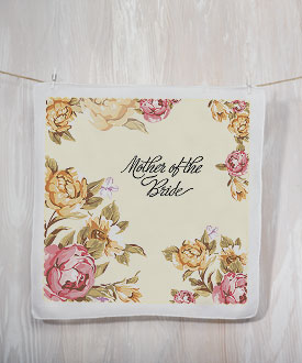 Tea Rose Print Handkerchief for the Mothers