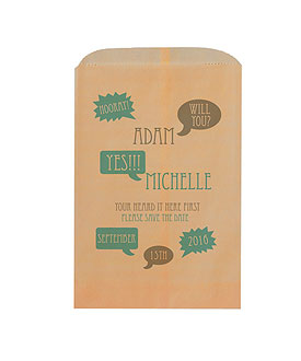 Will You Speech Bubbles Printed Flat Pocket Goodie Bag