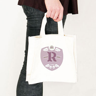 Acorn Monogram Personalized 100% Cotton Twill Tote Bag