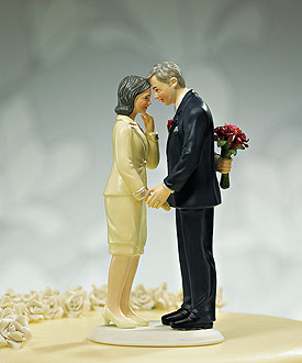 Still in Love Mature Couple Wedding Cake topper