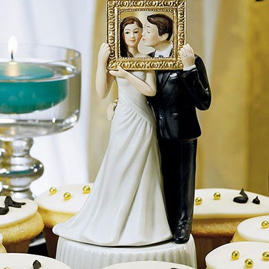 Picture Perfect Couple Wedding Cake topper