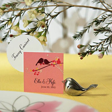Love Bird Wedding Place Card Holders