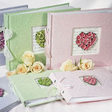 Flower of Love Wedding Reception Guest Book