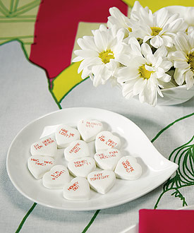 cheeky marriage talk wedding favor candy hearts