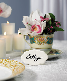 Ceramic reusable wedding table sign