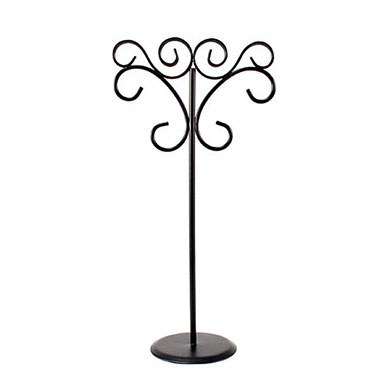 Tall Ornamental Wire Stationery Holders in Matte Black