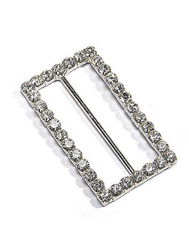 Large Rectangular Crystal Buckle