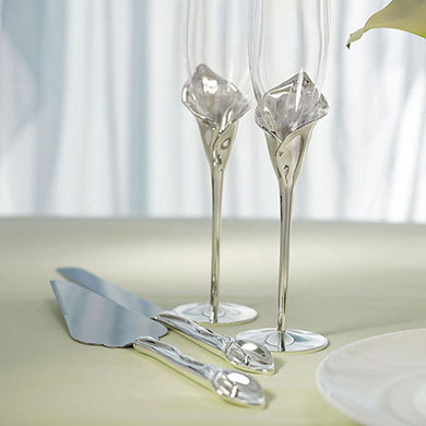 Calla Lily Cake Serving Set