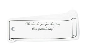 Scroll Design Confetti Wedding Favor Cards