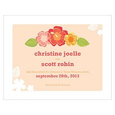 Tropical Bliss Save The Date Card