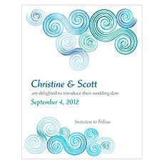 Sea Breeze Save The Date Card