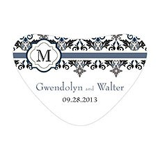 Lavish Monogram Heart Container Sticker