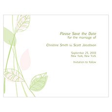 Green Organic Save The Date Card