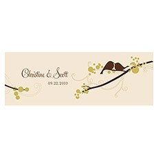 Love Bird Small Rectangular Tag