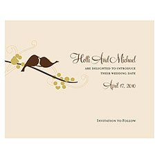 Love Bird Save The Date Card