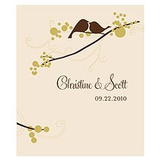 Love Bird Rectangular Label