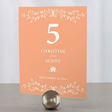 Forget Me Not Table Number