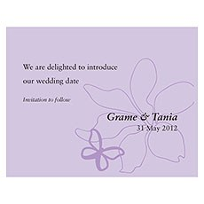 Butterfly Dreams Save The Date Card