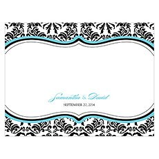 Love Bird Damask Note Card