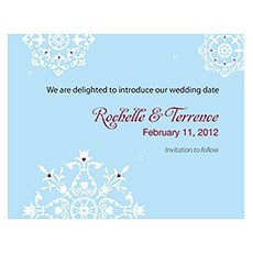 Winter Romance Save The Date Card