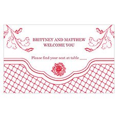 French Whimsy Escort Table Sign Card