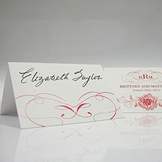 French Whimsy Place Card With Fold