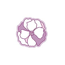 Pinwheel Poppy Diecut Sticker