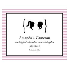 Sweet Silhouettes Save The Date Card