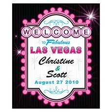 Las Vegas Rectangular Label