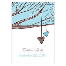 Heart Strings Large Rectangular Tag