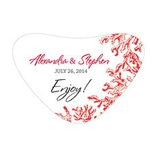 Reef Coral Heart Container Sticker