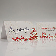 Reef Coral Place Card With Fold