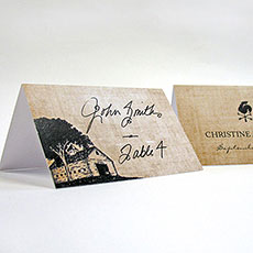 Rustic Country Place Card With Fold