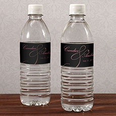 Classic Orchid Water Bottle Label