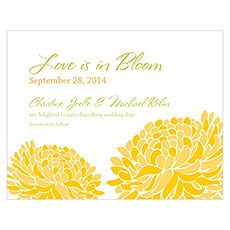 Zinnia Bloom Save The Date Card