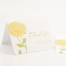 Zinnia Bloom Thank You Card