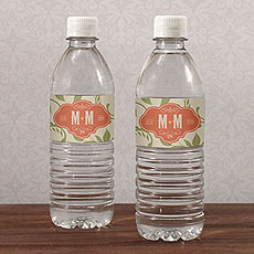 Vineyard Water Bottle Label