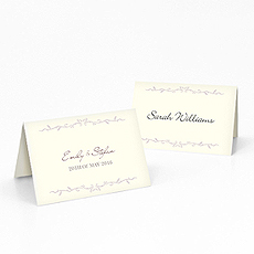 Equestrian Love Place Card With Fold