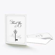 Key Monogram Thank You Card