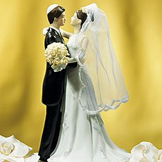 Traditional Jewish Bride & Groom Cake Topper