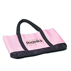 """Thanks"" Two Tone Tote"