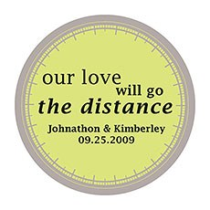 """Our Love Will Go the Distance"" Stickers"