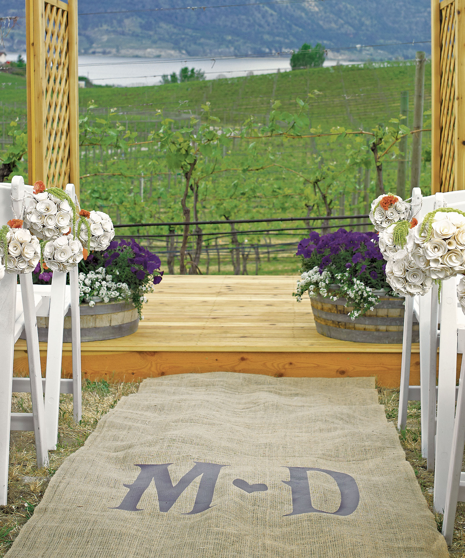 green up on aisle two New two shall become one aisle runner white wedding hortense b hewitt   make your guests feel very special when they walk up the red carpet  magenta , orange, coral, green, mint green, sky blue, blue, turquoise, navy, purple, lilac.